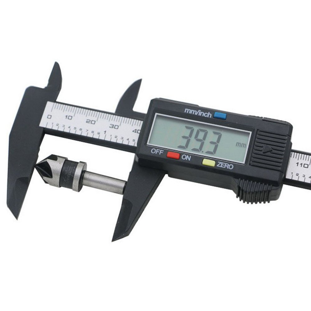 Electronic Digital Vernier Caliper 0-6 Inch/150 mm Measurement Tool With LCD Screen (Black)