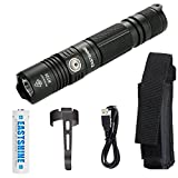 USB Rechargeable Professional Tactical Flashlight, EASTSHINE RT25 CREE XP-L HI V3 LED 1000 lumens Compact Handheld Torch Portable Outdoor Light & 3500mAh 18650 Battery