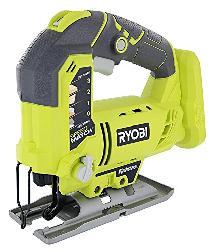 - Ryobi One+ P523 18V Lithium Ion Cordless Orbital T Shank 3,000 SPM Jigsaw (Battery Not Included, Power Tool and T Shank Wood Cutting Blade Only)