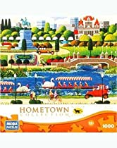 HOMETOWN COLLECTION Featuring the art of Heronim Swan Boats in Bostan 1000 Piece Puzzle