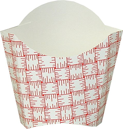 Dixie Medium Fast Food French Fry Carton by GP PRO (Georgia-Pacific), FF2RP, Red Plaid, 1,000 Count