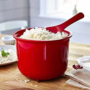 Amazon.com: Microwave Rice Cooker Steamer with Spoon & Lid