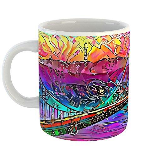 Westlake Art - Coffee Cup Mug - Golden Gate Bridge - Modern Abstract Artwork Home Travel Office Birthday Gift - 11oz ( fe619 - Square Bay Stores Park