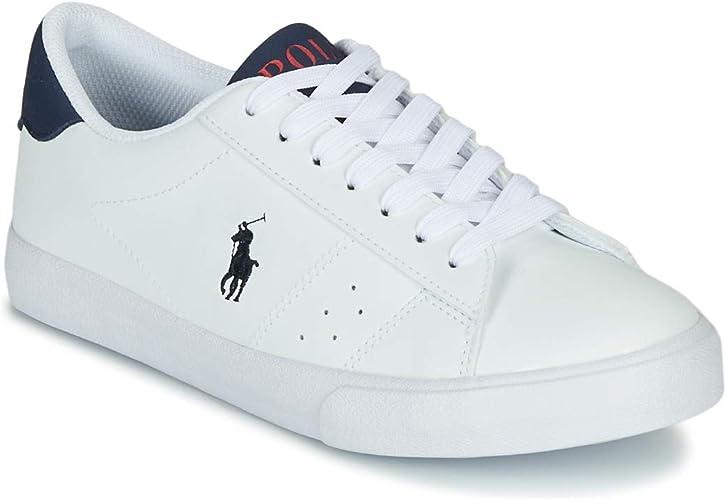Polo Ralph Lauren Theron Blanco/Armada Cayó Jóvenes Zapatillas De ...