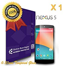 OBiDi - Google Nexus 5 Screen Protector, Tempered Glass - OBD Retail Packaging (Pack of 1)