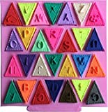 1Pc Flag Shape 26 English Letters Silicone Mold Chocolate Fondant Cake Decorating Tools