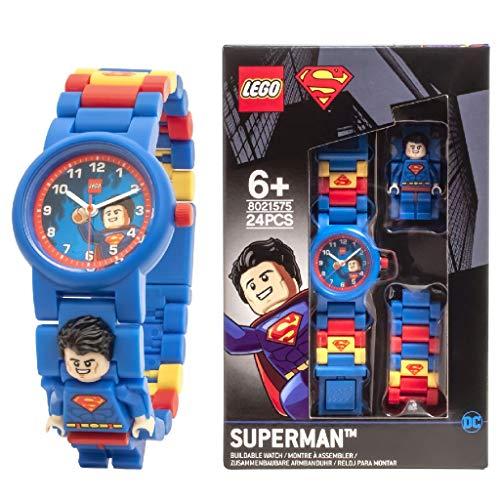 ClicTime Boys' LEGO Superman Analog Quartz Watch with Plastic Strap, Blue, 20 (Model: 8021575)