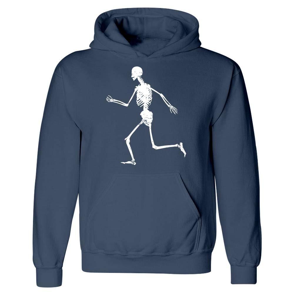 Hoodie Stuch Strength Funny Running Skeleton Sprinting Dashing