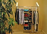 The Original InstaHANGER QuikCLOSET Model AH3X12/M White - Folding Collapsible Wall Mounted Clothes Storage/Drying Rack