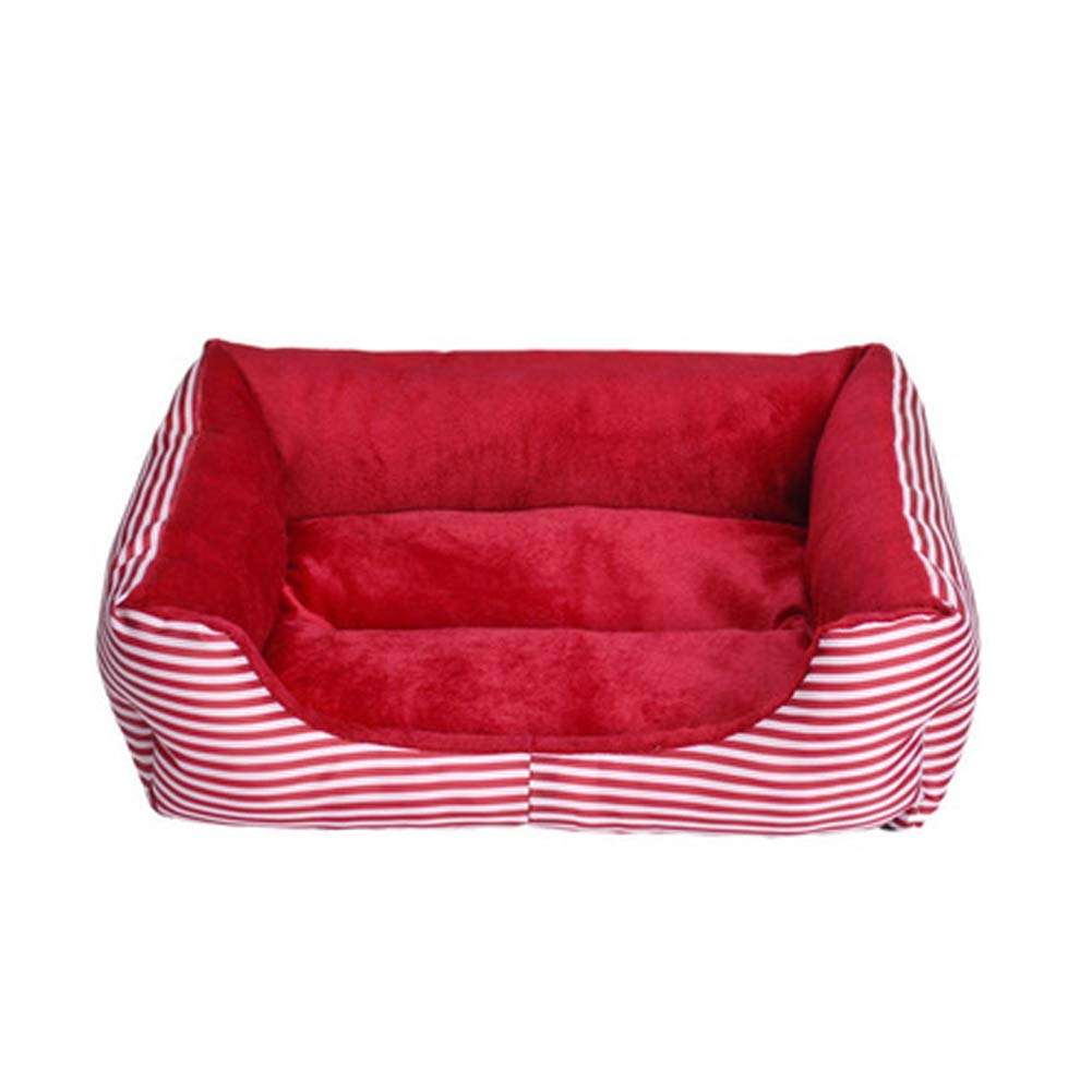 Red Small Red Small The Dog's Bed,Retro Square Premium Plush Dog Beds in Oxford Cloth, Fully Washable, Extremely Soft Comfortable