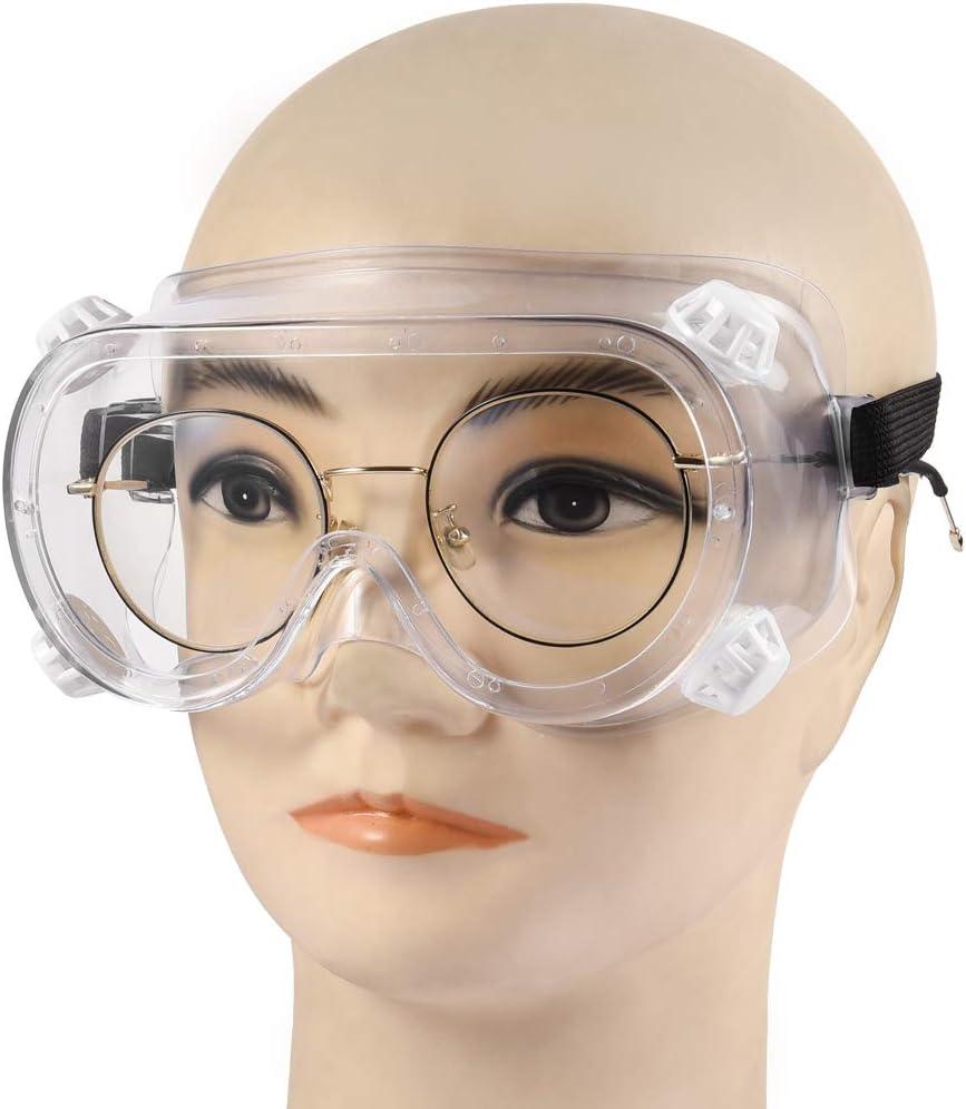 Schutzbrillen Medizinische Schutzbrille Antibeschlag Antispeichel Augenschutzbrille Transparent Vollsichtbrille f/ür Brillentr/äger Labor Arzt Chemie Erwachsene