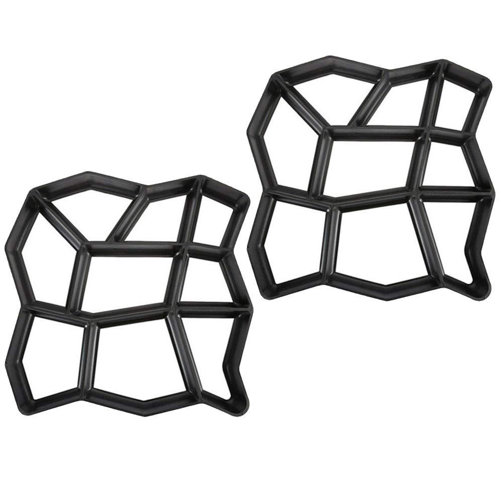 terrazas Negro molde de fundici/ón para hormig/ón pavimentos pavimento de hormig/ón Aufun Molde para hormigonado de jard/ín
