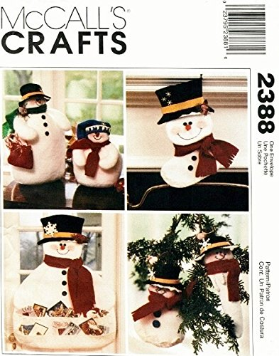 (McCall's Crafts, #2388 - Snowman Christmas [cardholder, stocking, ornament, snowmen])