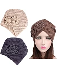 Lucky staryuan Cyber Monday 3Pack Women's Knit Chemo Hat Turban Headwear for Cancer Patients