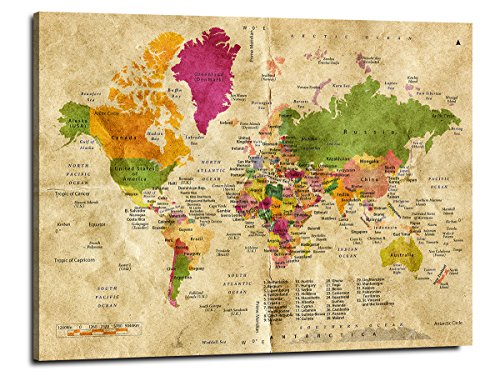 Yyl art multi classical light yellow world travel map of the world yyl art multi classical light yellow world travel map of the world with countries plate learning gumiabroncs Image collections