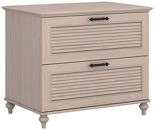 kathy ireland Home by Bush Furniture Volcano Dusk Lateral File Cabinet in Driftwood - Ireland Piece 2 Kathy