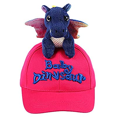 NWK Hats Baseball Baby Dinosaur Dragon Trucker Caps 100% Cotton Cute Funny Animal Adjustable Party Outdoor Snapback Berry Pink