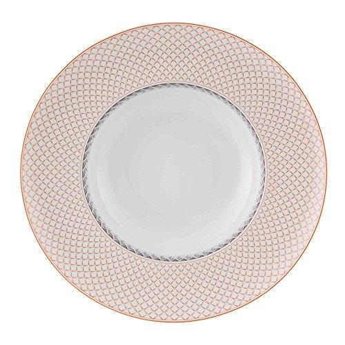 Vista Alegre Porcelain Maya Soup Plate - Set of 4 (Vista Bowl Soup Rimmed)