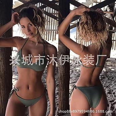 Moderne et confortable, élégant bikini maillot de couleur solide _split hôtel moderne et confortable paquet triangle bikini