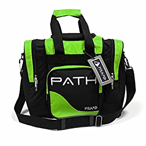 Pyramid Path Pro Deluxe Single Bowling Ball Tote Bowling Bag – Holds One Bowling Ball, One Pair of Bowling Shoes Up to Mens 15 Shoes and Accessories