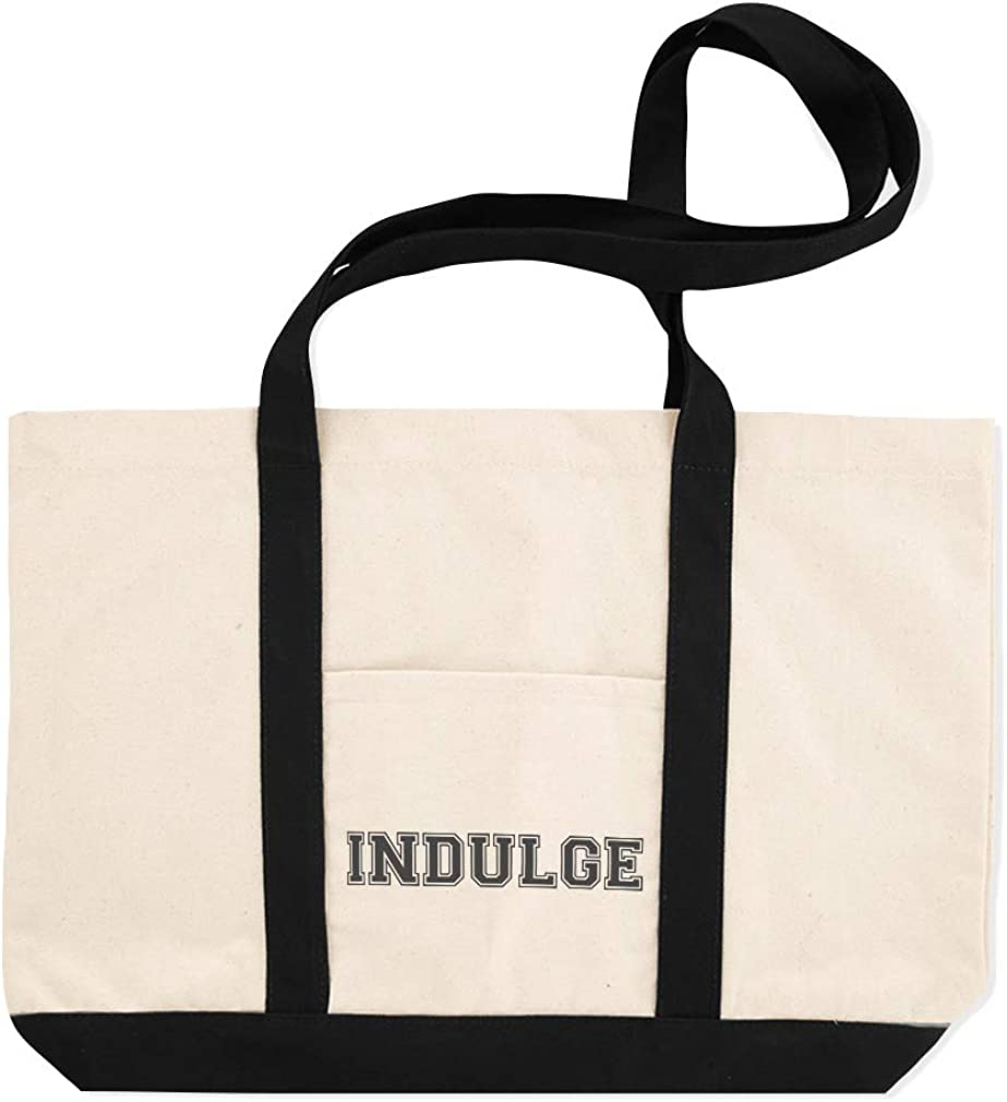 Canvas Shopping Tote Bag Indulge Inspiration /& Motivation Enjoy Beach for Women Inspirational Gifts