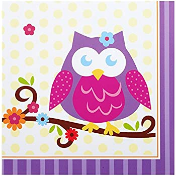 Conv2000 Owl Blossom Party Supplies - Lunch Napkins (16)  sc 1 st  Amazon.com & Amazon.com: 16-Count Paper Lunch Napkins Owl Pal Happy Birthday ...