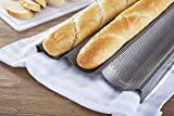 Chicago Metallic Commercial II Non-Stick Perforated Baguette Pan - 59609