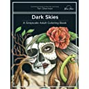 Dark Skies: A Grayscale Adult Coloring Book