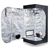 dicn 60x60x140cm Indoor Hydroponics Grow Tent Lightproof Temperature...