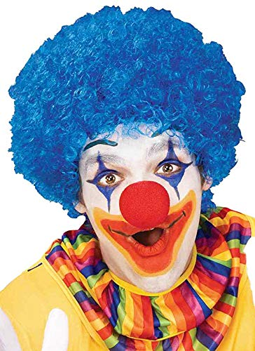Forum Novelties Unisex Afro/Clown Wig,  Blue, One Size