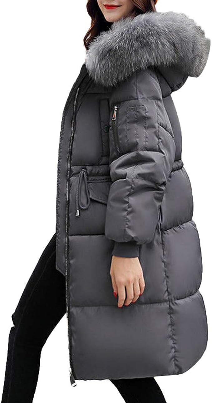 Women Ladies Slim Hooded Down Jacket Padded Coat Long Winter Warm Parka Outwear