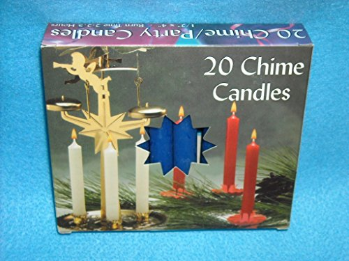 (Biedermann & Sons Chime or Tree Candles 20-Count Box, Dark Blue)