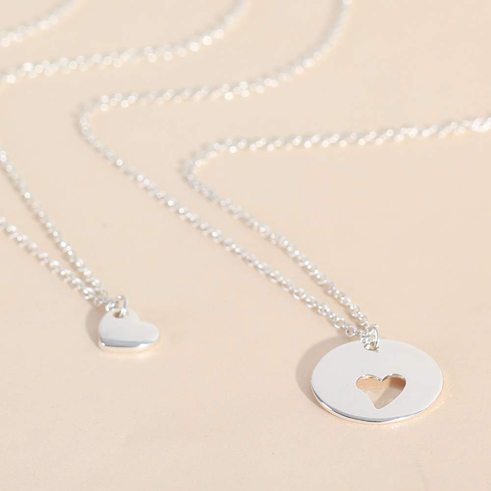 Loweryeah Lady's Hollow Heart Pendant Double Layer Necklace Mother's Day gift by Loweryeah (Image #6)