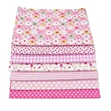 """56pcs/lot 9.8"""" x 9.8"""" (25cm x 25cm) No Repeat Design Printed Floral Cotton Fabric For Patchwork, Sewing Tissue To Patchwork,Quilting Squares Bundles"""