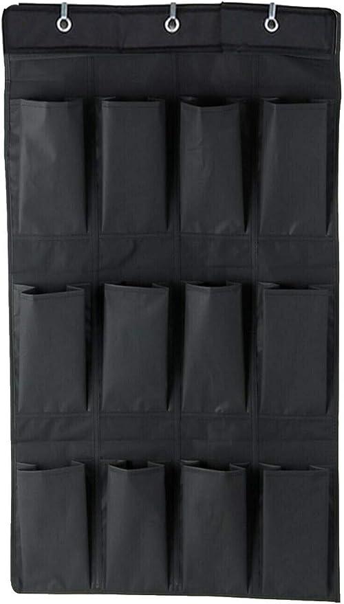 Midland Bedding - Juego de 6 pares de zapatos para colgar sobre la puerta, diseño de 12 bolsillos