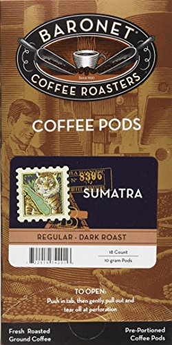 Baronet Coffee Sumatra Kuda Mas Coffee Pods, 54 -