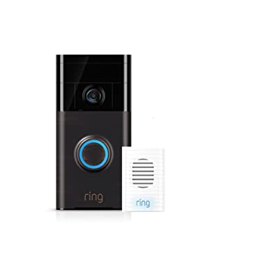 Wi-Fi Enabled Video Doorbell Venetian Bronze w/Chime Kit