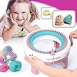 Highjump Knitting Looms Kit Machine for Kids,Knitting Kit Machine,Smart Weaver Round Loom,Litte Weaver Weaving Loom Toy Hands-on DIY Knit Scarf Hat Sock Educational