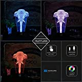 HUI YUAN Optical Illusions 3D Lamp Touch Control LED Night Lights Decor Lights Animal Image Series 7 Colours Changes Best Gifts for Kid and Room&Dest Decoration