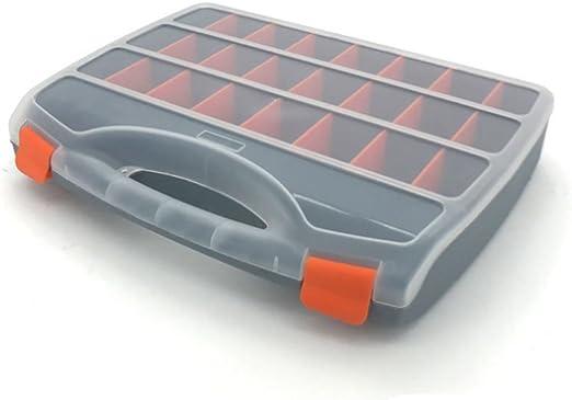 TOPIND - Caja de almacenamiento (organizador) y transporte de doble cara para señuelos de pesca, tornillos, clavos, etc.: Amazon.es: Hogar