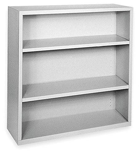 - 36' x 18' x 42' Elite Series Stationary Bookcase with 3 Shelves, Dove Gray