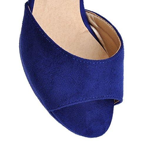 Adee Girls Kitten-Heels Peep-Toe Frosted Sandals Blue ImvQo
