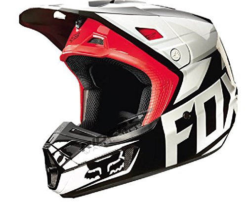Fox Racing Race Men's V2 Motocross Motorcycle Helmet - Black / Medium (Black V2 Race Helmet)