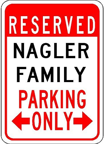 """Nagler Family Parking - Customized Last Name - 7""""X10"""" for sale  Delivered anywhere in USA"""