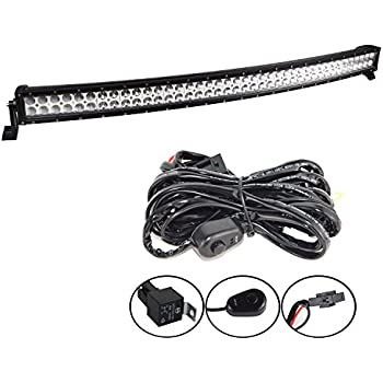 wiring harness for cree led light bar with B00oci1aa0 on 2008 Dodge Ram Off Road Lights in addition 20 Inch Nilight Light Bar Wiring Harness likewise Rough Country 70920 20 Inch Chrome Series Dual Row Cree Led Light Bar together with B00SCDC8VQ further 3d Curved 288w Light Bar Led 50 Spot Flood  bo Cree Off Road 4x4wd Ta a Jeep.