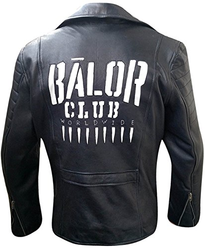 WWE Superstar Finn Balor Club Asymmtercial Zipped Quilted Black Synthetic Leather Jacket by LP-FACON