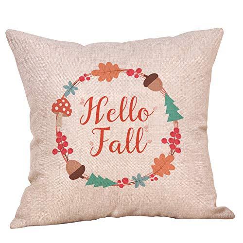 Dermanony Halloween Pillow Case Home Car Bed Sofa Decorative Letter Printed Pillow Case Linen Cushion Cover 45 X 45cm (Quicksilver Bedding Full)
