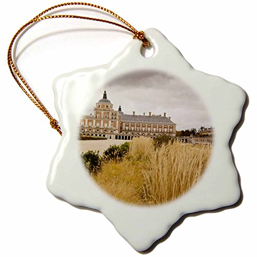 3dRose orn_139223_1 Spain, Madrid Region, Royal Palace at Aranjuez EU27 WBI0282 Walter Bibikow Snowflake Ornament, Porcelain, 3-Inch by 3dRose