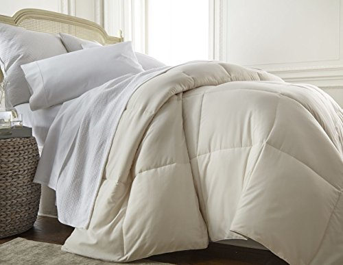 ienjoy Home Collection Down Alternative Premium Ultra Soft Plush Comforter, Queen, Ivory