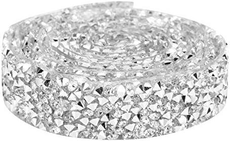 Strass Diamond Ribbon, Crystal Mesh Banding, Aufbügeln Beaded Applique Hochzeitskleid Schuhe Trim, perfekt für Geburtstagsdekorationen, Bouquet, Baby Shower Events, Party Dekoration, 5 Yard(3#)